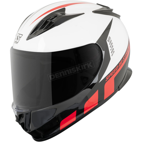 Speed and Strength White/Red Lightspeed SS3000 Helmet - 876166