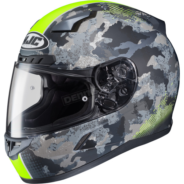 HJC Flat Dark Gray/Light Gray/Hi-Vis Green CL-17 Void Helmet - 57-9639Z