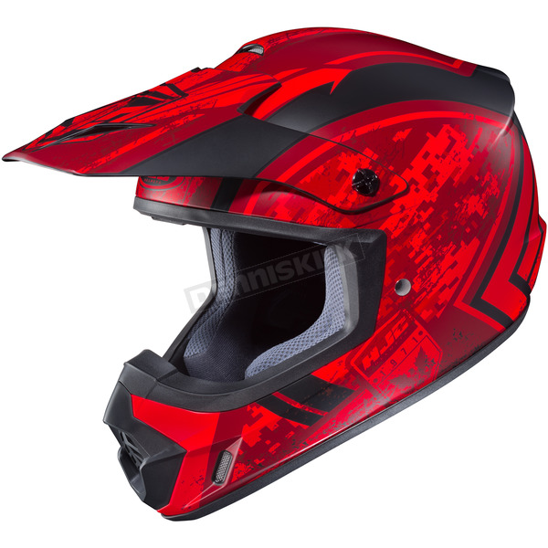 HJC Flat Red/Black MC-1F CS-MX 2 Squad Helmet - 55-5719T