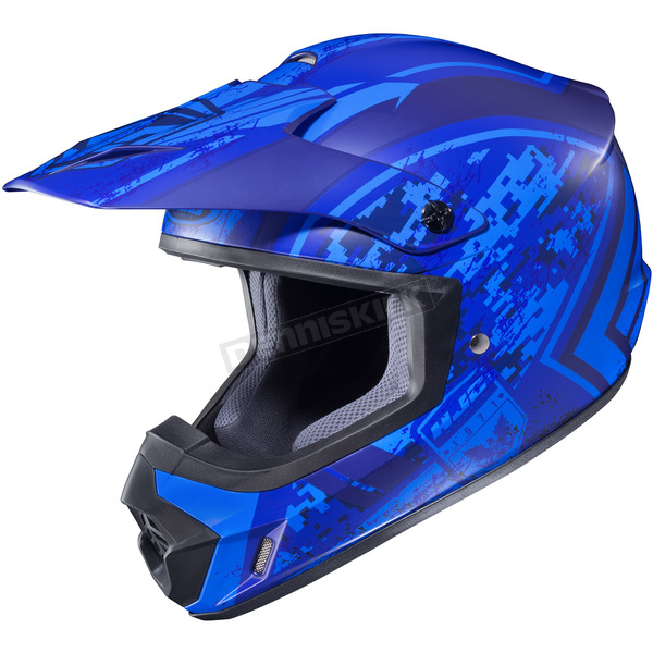 HJC Flat Blue MC-2F CS-MX 2 Squad Helmet - 324-823
