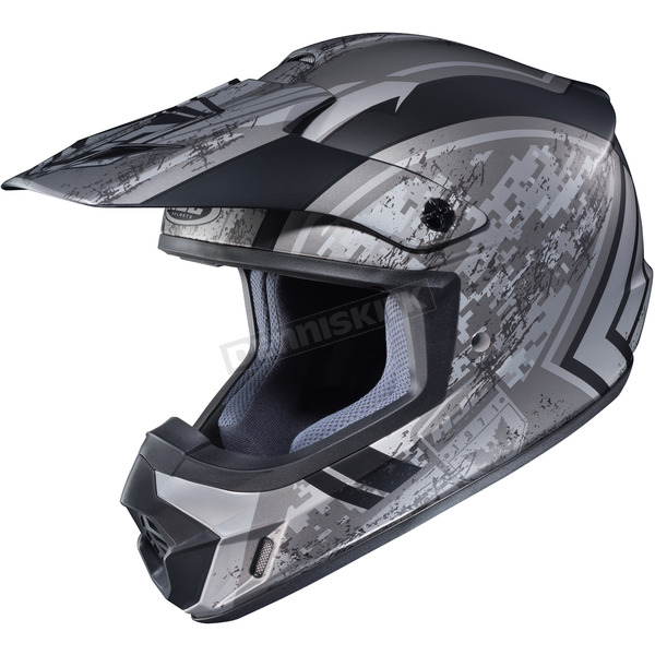 HJC Flat Silver/Black MC-5F CS-MX 2 Squad Helmet - 324-851