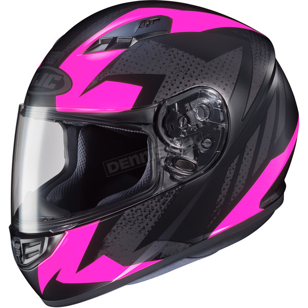 HJC Flat Black/Pink MC-8F CS-R3 Treague Helmet - 55-9284