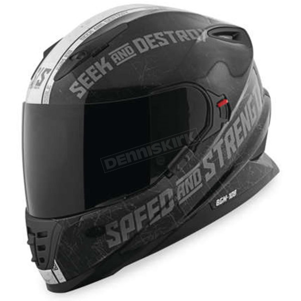 Speed and Strength Gloss Black/Silver Cruise Missile SS1600 Helmet - 878562