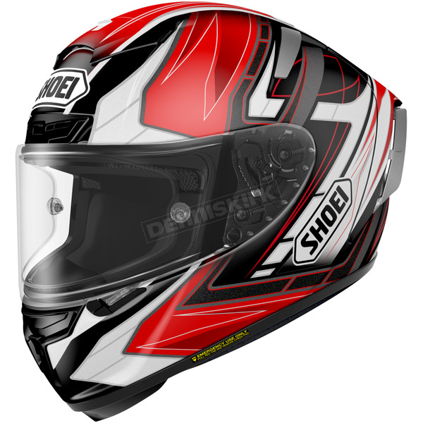 Shoei Helmets Red/Black/White X-Fourteen Asail TC-2 Helmet - 0104-1101-05