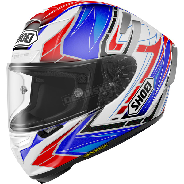 Shoei Helmets Blue/White/Black X-Fourteen Asail TC-2 Helmet - 0104-1102-04