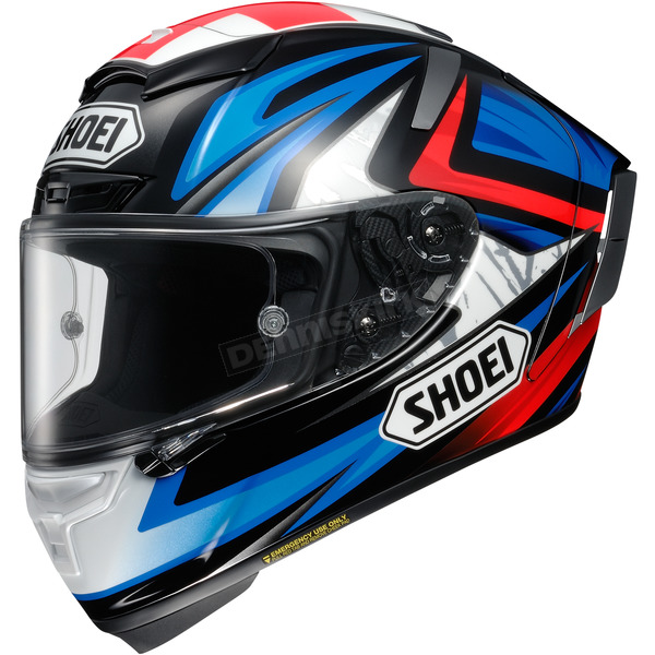 Shoei Helmets Blue/Red/Black X-Fourteen Bradley 3 TC-1 Helmet - 0104-1301-07