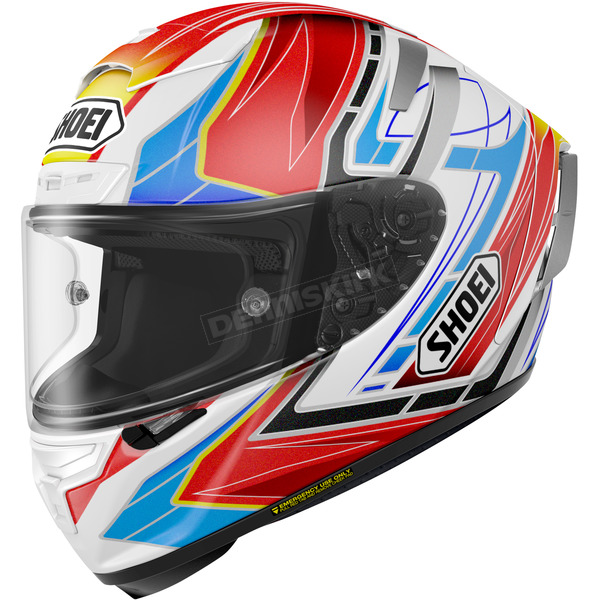 Shoei Helmets Red/Blue/White X-Fourteen Asail TC-10 Helmet - 0104-1110-07