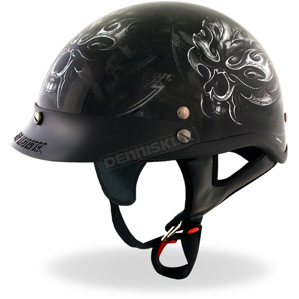 Hot Leathers Black Electric Skull Helmet - HLD1024S