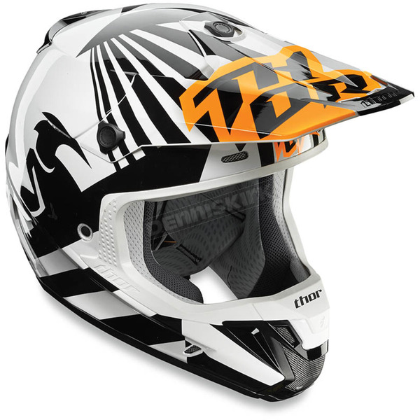 Thor Orange/White Dazzle Helmet - 0110-4708