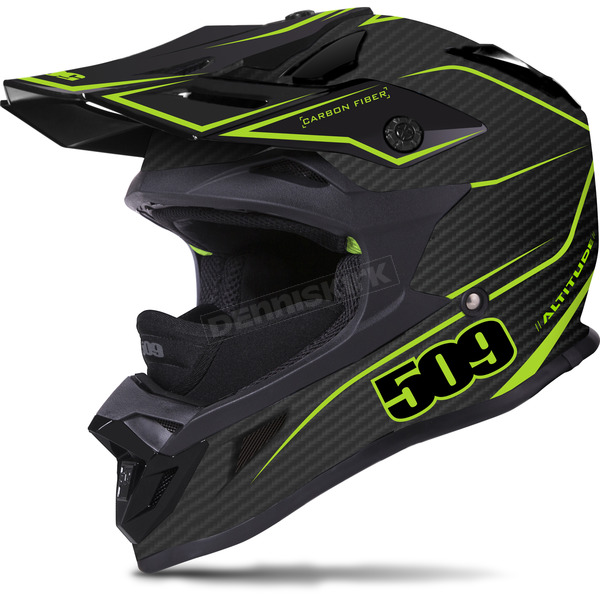 509 Matte Black/Lime Altitude Carbon Fiber Helmet - 509-HEL-ACL-MD