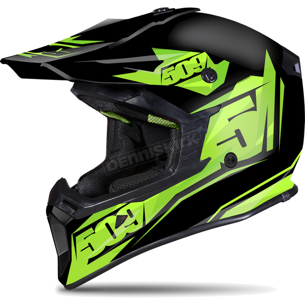509 Matte Black/Lime Tactical Helmet - 509-HEL-TL7-LG