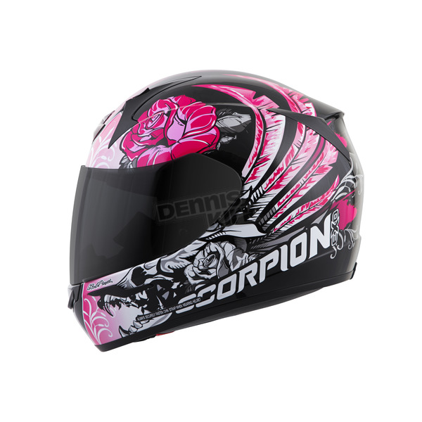 Scorpion Black/Pink EXO-R410 Novel Helmet - 41-10713