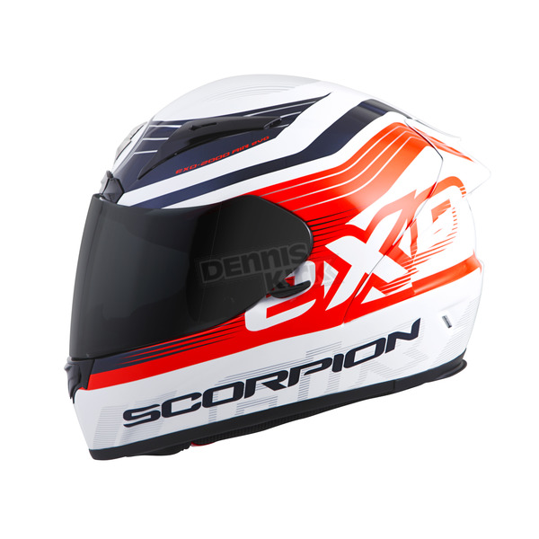Scorpion White/Orange EXO-R2000 Fortis Helmet - 200-7815