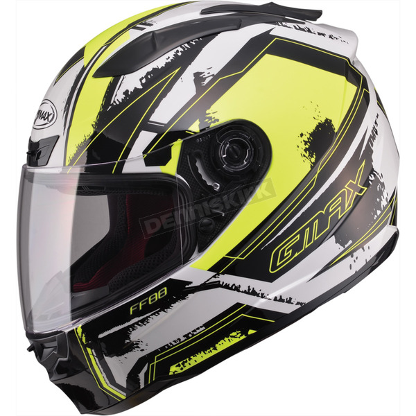 GMax White/Hi-Viz Yellow/Black FF88 X-Star Helmet - 72-47743X