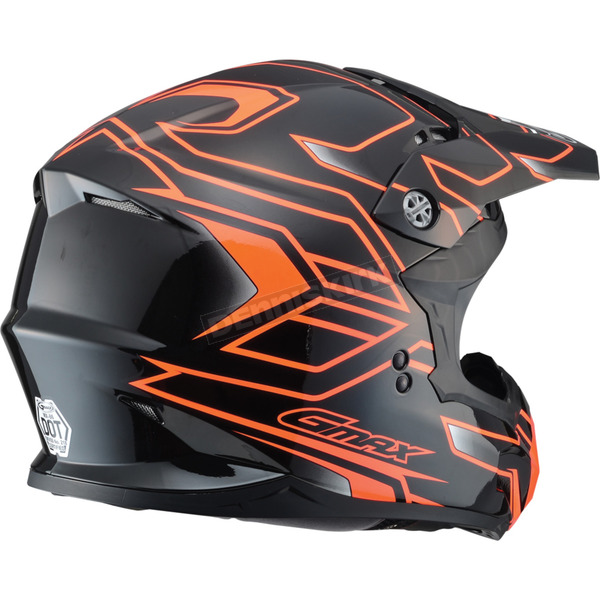 GMax Black/Hi-Viz Orange MX86 Step Helmet - 72-6848M