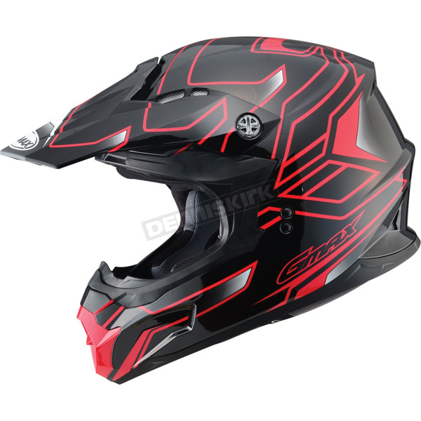 GMax Black/Red MX86 Step Helmet - 72-6842XS