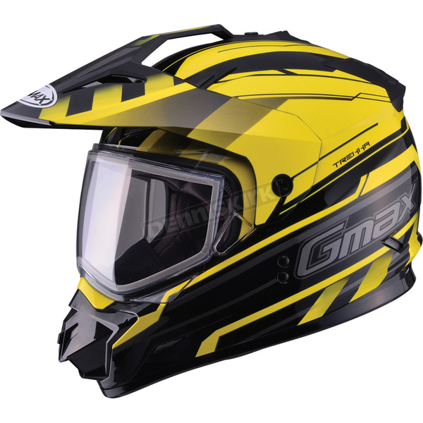 GMax Black/Yellow GM11S Trekka Snow Sport Snowmobile Helmet  - 72-7135S