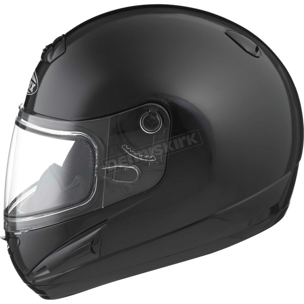 GMax Black GM38S Snowmobile Helmet w/Dual Lens Shield - 72-6160XXX
