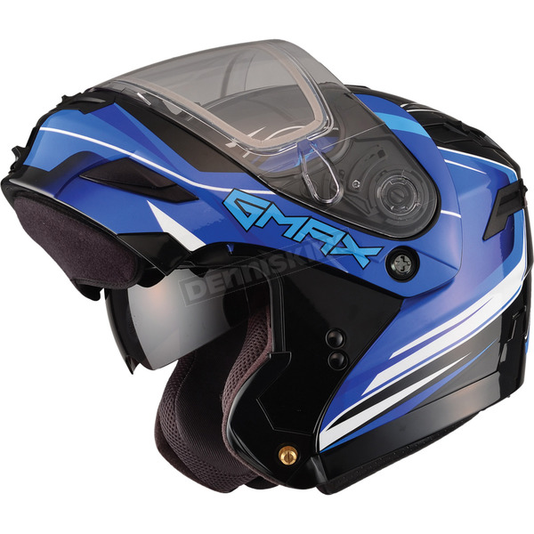 GMax Black/Blue GM54S Terrain Modular Snowmobile Helmet - 72-6142X