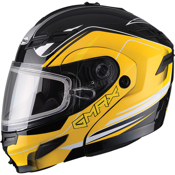 GMax Black/Yellow GM54S Terrain Modular Snowmobile Helmet - 72-6145X