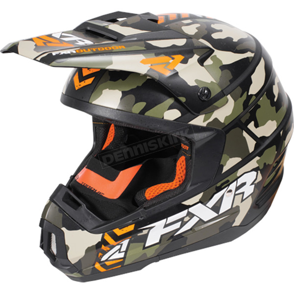 FXR Racing Army Urban Camo/Orange Torque Squadron Helmet - 170619-7630-19