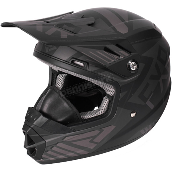 FXR Racing Youth Black Ops Throttle Battalion Helmet - 170668-1010-07