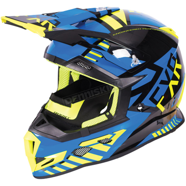 FXR Racing Black/Blue/Hi-Vis Boost Battalion Helmet - 170606-1040-10