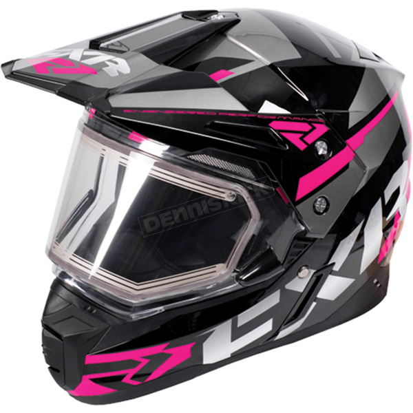 FXR Racing Black/Fuchsia/Charcoal FX-1 Team Helmet w/Electric Shield  - 170609-1090-10