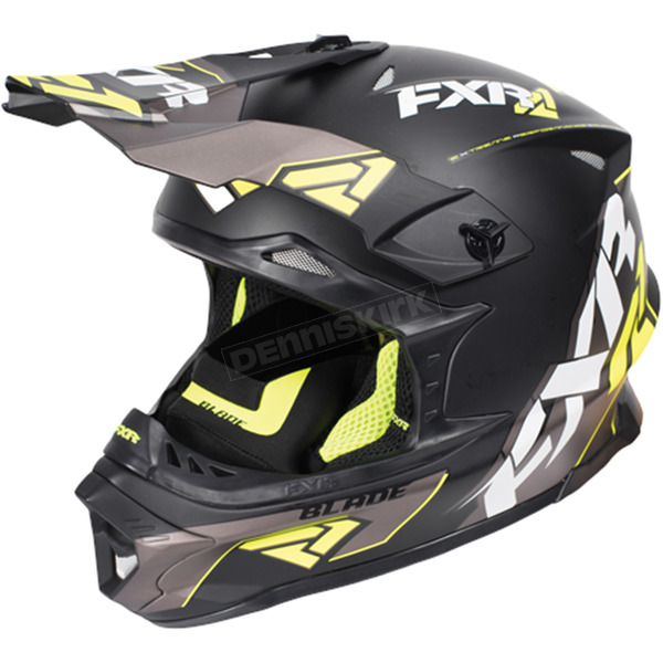 FXR Racing Black/Hi-Vis/Charcoal Blade Vertical Helmet - 170602-1065-13