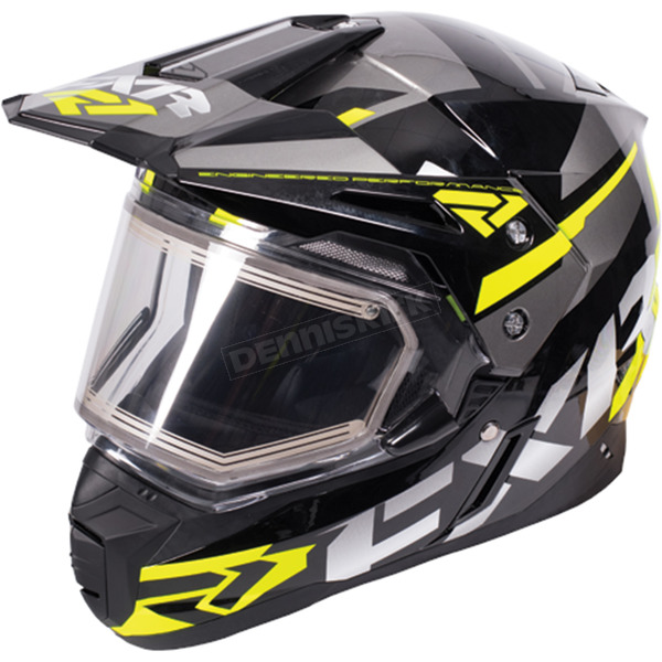 FXR Racing Black/Hi-Vis/Charcoal FX-1 Team Helmet w/Electric Shield  - 170609-1065-07