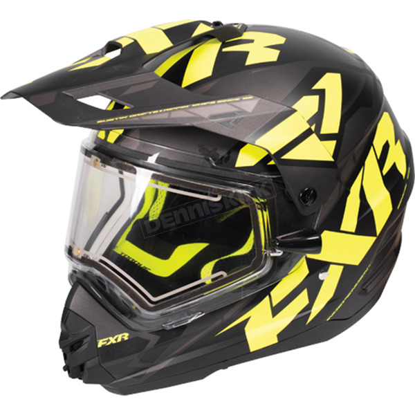 FXR Racing Black/Hi-Vis/Charcoal Torque X Core Helmet w/Electric Shield  - 170610-1065-16