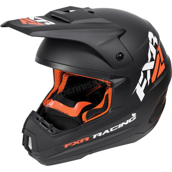 FXR Racing Black/Orange Torque Recoil Helmet - 170620-1030-19