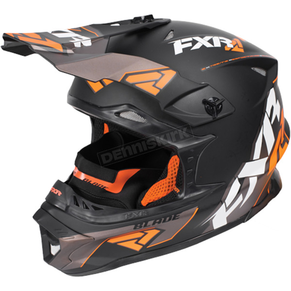 FXR Racing Black/Orange/Charcoal Blade Vertical Helmet - 170602-1030-07