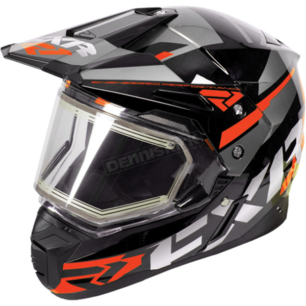 FXR Racing Black/Orange/Charcoal FX-1 Team Helmet w/Electric Shield  - 170609-1030-16