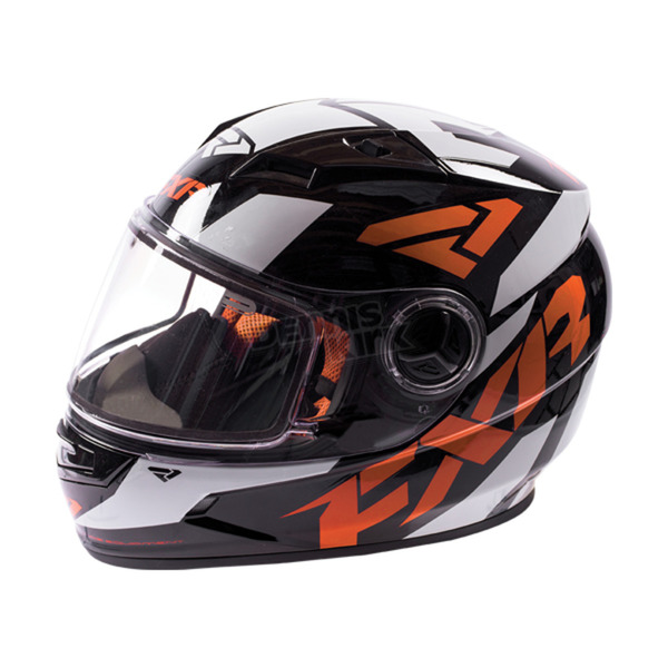 FXR Racing Youth Black/Orange/White Nitro Core Helmet - 170662-1030-13
