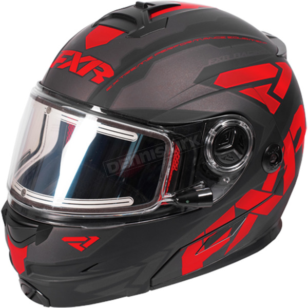 FXR Racing Black/Red/Charcoal Fuel Modular Elite Helmet w/Electric Shield - 170624-1020-13