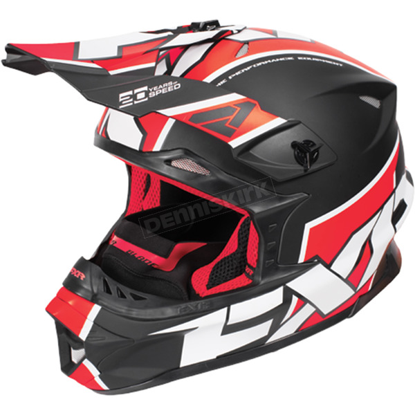 FXR Racing Black/Red/White Blade Clutch Helmet - 170601-1020-10