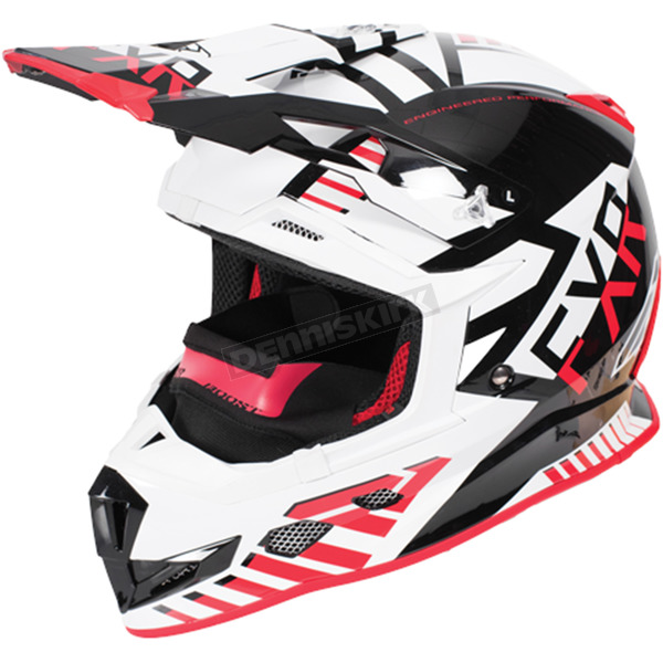 FXR Racing Black/Red/White Boost Battalion Helmet - 170606-1020-10