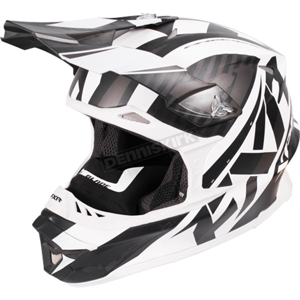 FXR Racing Black/White/Charcoal Blade Throttle Helmet - 170603-1001-19