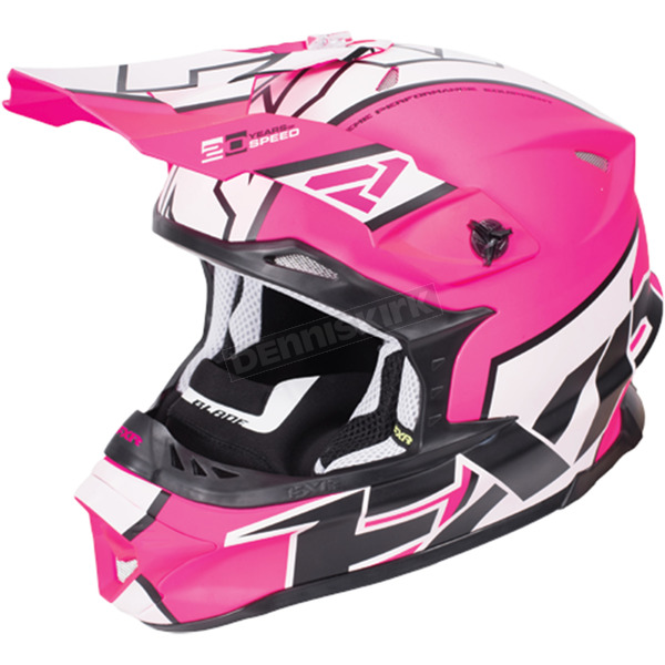 FXR Racing Electric Pink/White/Black Blade Clutch Helmet - 170601-9401-04