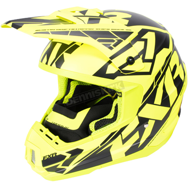 FXR Racing Hi-Vis/Black Torque Core Helmet - 170621-6510-13