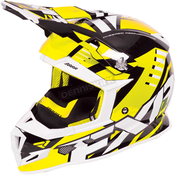 FXR Racing Hi-Vis/Black/White Boost Revo Helmet - 170607-6510-16