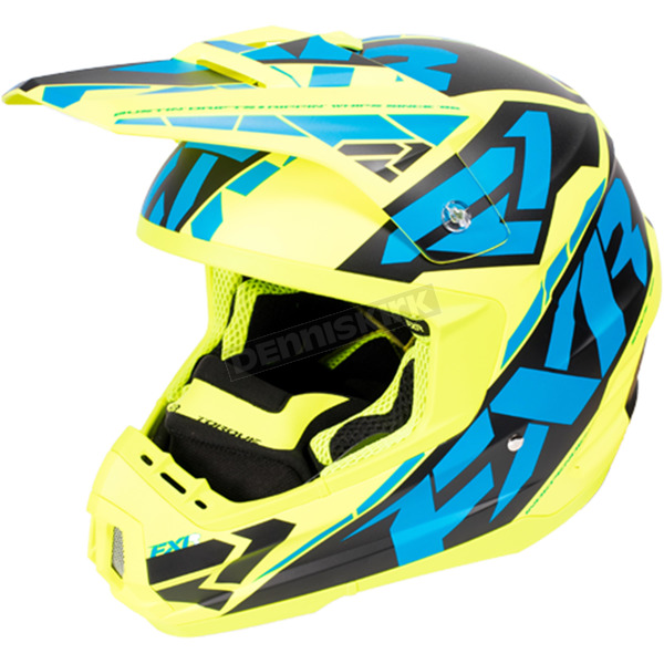 FXR Racing Hi-Vis/Blue/Black Torque Core Helmet - 170621-6540-16