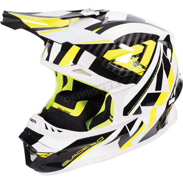 FXR Racing Hi-Vis/White/Black Blade Throttle Helmet - 170603-6501-07