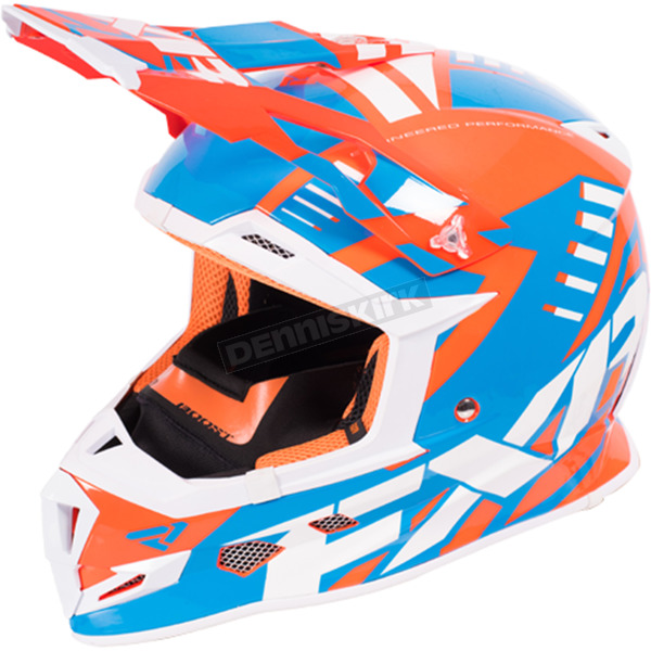 FXR Racing Orange/Blue/White Boost Revo Helmet - 170607-3040-10
