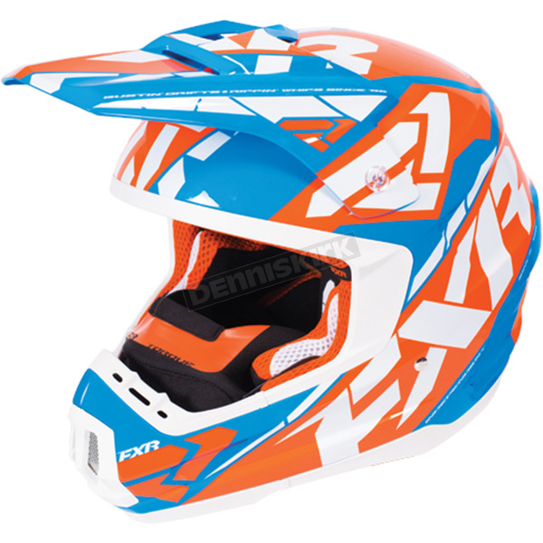FXR Racing Orange/Blue/White Torque Core Helmet - 170621-3040-07