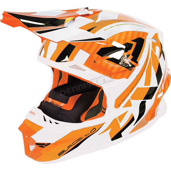 FXR Racing Orange/White/Black Blade Throttle Helmet - 170603-3001-10