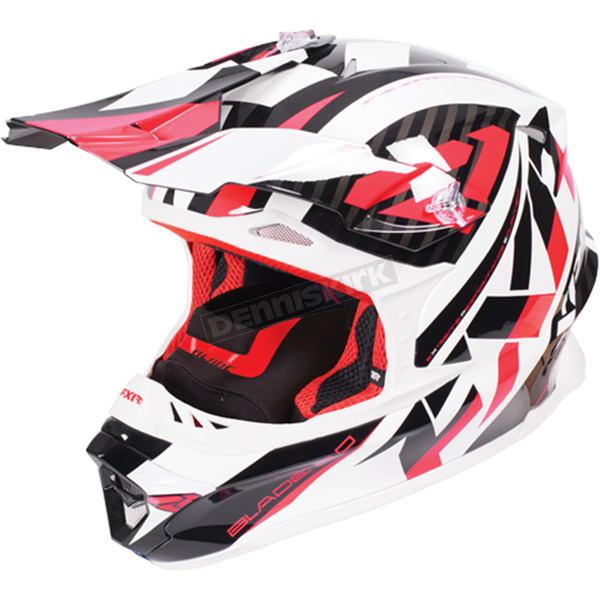 FXR Racing Red/White/Black Blade Throttle Helmet - 170603-2001-16