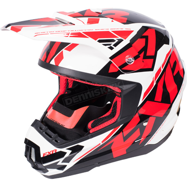FXR Racing Red/White/Black Torque Core Helmet - 170621-2001-19