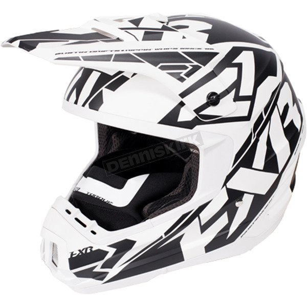 FXR Racing White/Black Torque Core Helmet - 170621-0110-10